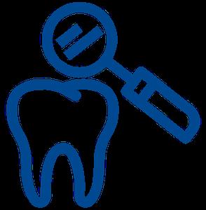 white composite filling logo image